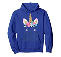 Unicorn Dad Of The Birthday Girl Matching Party Shirts Hoodie Royal Blue