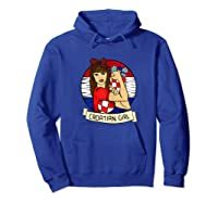Croatian Girl Croatian Woman Croatia Croatian T-shirt Hoodie Royal Blue