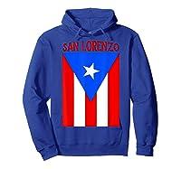 Puerto Rican San Lorenzo Puerto Rico Flag Shirt Hoodie Royal Blue