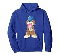 Goldendoodle Labradoodle Blowing Pink Gum Shirts Hoodie Royal Blue