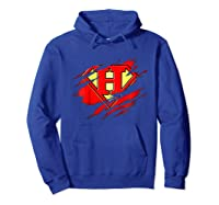 Birthday Gift Letter H Name Super Hero Accessories Apparel Shirts Hoodie Royal Blue