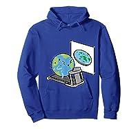 Flat Earth Workout Conspiracy Theory T-shirt Hoodie Royal Blue