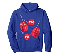 Yo-yo Shirt Yoyo Ball T-shirt Gift Hoodie Royal Blue