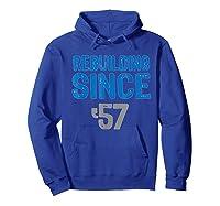 Gift Detroit Football Tshirts- Rebuilding Since 57 Hoodie Royal Blue