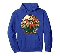 Vintage Myers Flat California Mountain Hiking Souvenir Print T-shirt Hoodie Royal Blue
