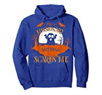 Missionary Nothing Scares Me Funny Halloween T-shirt Hoodie Royal Blue