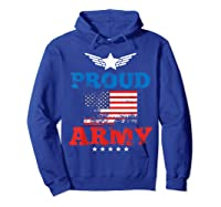 Proud Army American Soldier Air Flag Honor Gift T-shirt Hoodie Royal Blue
