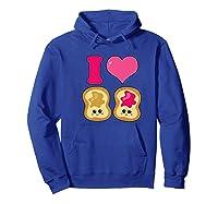 Cute I Heart Love Peanut Butter And Jelly Kawaii Shirts Hoodie Royal Blue