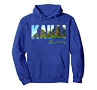 Retro Classic Vintage Summer Kauai Hawaii Shirts Hoodie Royal Blue