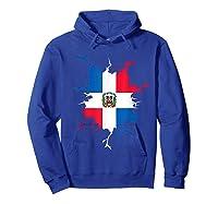 Dominican Republic Flag Inside Dominicana Republica Pride Shirts Hoodie Royal Blue
