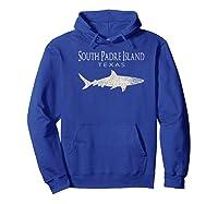 Retro South Padre Island Tx Shark T-shirt Hoodie Royal Blue