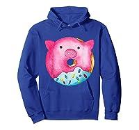 Donut Pig Shirts Hoodie Royal Blue