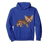 Cat Caricature - Funny Domestic Bengal Cat Kitten Tshirt Hoodie Royal Blue