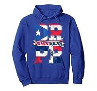Dominirican Puerto Rico And Republica Dominicana Pride Shirts Hoodie Royal Blue