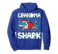 Grandma Shark Santa Christmas Family Matching S Shirts Hoodie Royal Blue