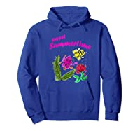 Sunshine, Flowers And Honey Bees Shirts Hoodie Royal Blue