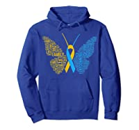 Down Syndrome Awareness Butterfly T-shirt Support Gift Shirt Hoodie Royal Blue