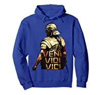 Veni Vidi Vici Spqr Roman Empire Quote Shirts Hoodie Royal Blue