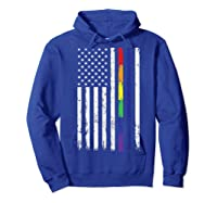 Police Support Lgbt Gay Pride Thin Red Line Rainbow Flag Fun T-shirt Hoodie Royal Blue