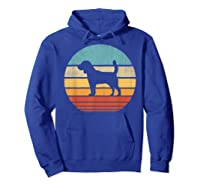 Beagle Retro Vintage Style 60s 70s Gifts Dog Lover Shirts Hoodie Royal Blue