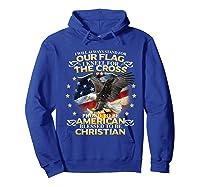 Christian Patriotic American Flag Shirts Hoodie Royal Blue