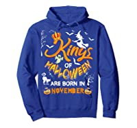 Kings Of Halloween Are Born In November Birthday Costume Shirts Hoodie Royal Blue