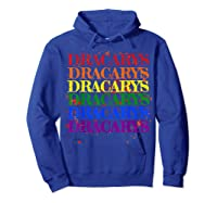 Dracarys Dragon Lovers Rainbow Lgbt Flag Gay Pride Lesbian T-shirt Hoodie Royal Blue