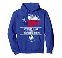 Texas Home Louisiana Roots State Tree Flag Shirt Love Gift Hoodie Royal Blue