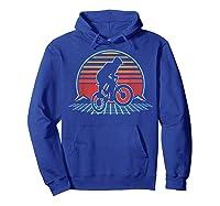 Bmx Retro Vintage 80s Style Mountain Bike Rider Gift T-shirt Hoodie Royal Blue
