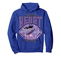 Aladdin Jasmine Let Your Heart Decide Ride Shirts Hoodie Royal Blue