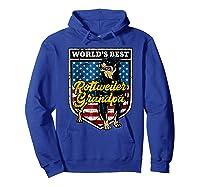 Worlds Best Rottweiler Grandpa Shirts Hoodie Royal Blue