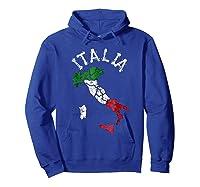 Italia Italian Flag Italy Shirts Hoodie Royal Blue