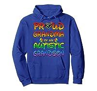 Autism Awareness Proud Grandma Of Autistic Grandson Shirts Hoodie Royal Blue