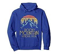 Vintage Rocky Mountains National Park Colorado Retro Shirts Hoodie Royal Blue