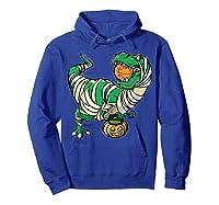 Funny Basketball Player T Rex Dinosaur Halloween Costume T-shirt Hoodie Royal Blue