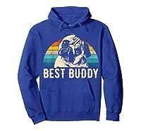 Retro Pug Gift Shirts Hoodie Royal Blue