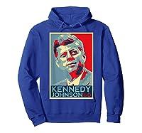 Kennedy Johnson 1960 Retro Campaign 4th Of July President Shirts Hoodie Royal Blue