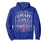Legends Were Born In January 1970 50th Birthday Gift T-shirt Hoodie Royal Blue