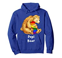 Papi Bear Proud Dad Lgbt Gay Pride Lgbt Dad Gifts Shirts Hoodie Royal Blue