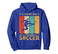 Retro Vintage Soccer Design 1970s T-shirt Hoodie Royal Blue