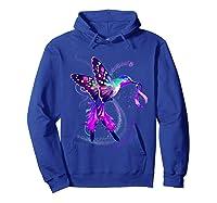 Hummingbird Purple Ribbon Pancreatic Cancer Awareness Shirts Hoodie Royal Blue