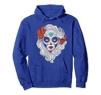 Sugar Skull Dia De Los Muertos Halloween Horror Premium T-shirt Hoodie Royal Blue