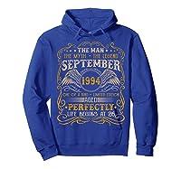 September 1994 Man Myth Legend 26th Birthday 26 Years Old Shirts Hoodie Royal Blue