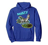 Madagascar Marty Painted Grass Poster Premium T-shirt Hoodie Royal Blue