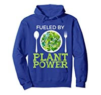 Fueled By Plant Power Vegetarian Shirts Hoodie Royal Blue