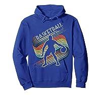 Vintage Retro Basketball Shirt Colorful Tshirt Hoodie Royal Blue
