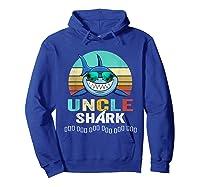 Uncle Shark Doo Doo T-shirt Hoodie Royal Blue