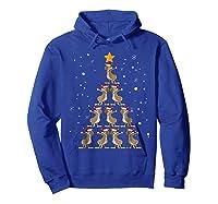 Dabbing Kangaroo Christmas Dab Christmas Tree Shirts Hoodie Royal Blue