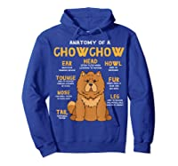 Chow Chow Funny Anatomy Of Mom Dad Dog Gift T-shirt Hoodie Royal Blue