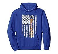Billiards American Flag T-shirt Billiard Ts Hoodie Royal Blue